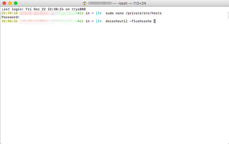 Flushing cache on mac via terminal